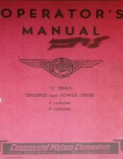 Continental L-Head Engine Owner Repair Manual Forklift Tractor F-226 F-162 Y-69