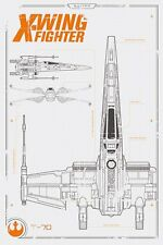 STAR WARS EPISODE 7 X WING PLANS 91.5 X 61CM POSTER NEW OFFICIAL MERCHANDISE