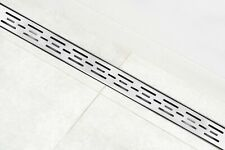 """DreamDrains 48"""" Brushed Stainless Linear Shower Drain Bars Pattern, 9 GPM"""