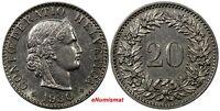 Switzerland Nickel 1930 B 20 Rappen Unc Condition KM# 29