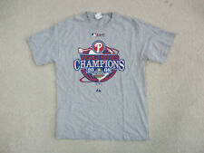 Majestic Philadelphia Phillies Shirt Adult Large Gray Blue MLB Baseball Mens A92