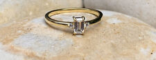 Gold Filled Stacking Ring, Emerald Cut Ring, Gold Stackable Ring (UK N/ US 7)