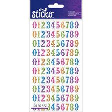 Sticko E5250036 Numbers Bright Glitter Stickers