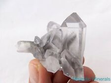TOP COLLECTOR_LARGE VERY RARE Arkansas Quartz Crystal GHOST Phantom Cluster