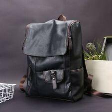 Vintage Men's Leather Backpack Shoulder Bags College School Travel Daypack