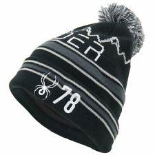 Spyder Icebox Herren Strick Bommel Winter Ski Mütze schwarz