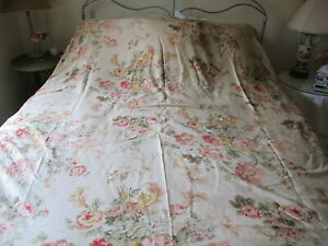 "Ralph Lauren "" Guinevere"" Floral King Duvet Cover. Cotton Sateen."