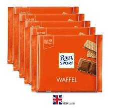 5 x Genuine Ritter Sport COCOA WAFER Chocolate 100g Bars Pack of 5 Box Gift UK