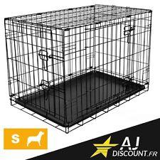 Caisse de transport - Taille S - 76x71x56 cm - Cage métallique pour chien chat