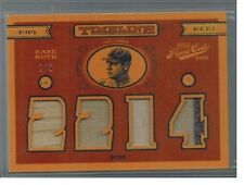 2016 PANINI PRIME CUTS BABE RUTH QUAD JERSEY BAT 2/3 PINSTRIP TIMELINE RARE SP