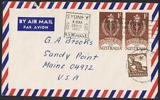 1960 6d anteater + 1961 1/- Colombo Plan pair on 1963 airmail cover Ts1064