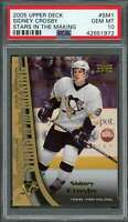 2005-06 upper deck stars in the making #sm1 SIDNEY CROSBY penguins rookie PSA 10