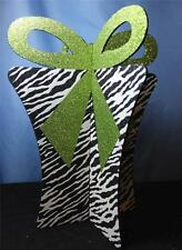 New Lime Green Zebra Christmas Present Christmas Ornament Decoration Mantel