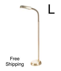 New, 5 Feet Sunlight Floor Lamp With Adjustable Gooseneck, BrassMetal. Free Ship