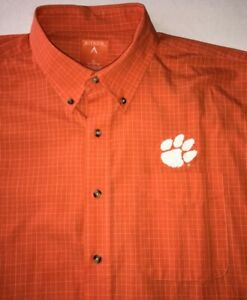 NEW CLEMSON TIGERS UNIVERSITY ANTIGUA MEN'S XL LONG SLEEVE BUTTON UP SHIRT - $79