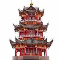 Chinese Ancient JUYUAN TOWER building Model 3D Jigsaw puzzle DIY Metal Model