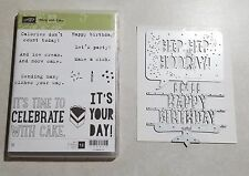 Stampin' Up! Party With Cake and Party Pop-Up Thinlits Dies Birthday Bundle Cake