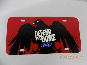 Atlanta Falcons NFL License Plate Defend the Dome Ford Plastic