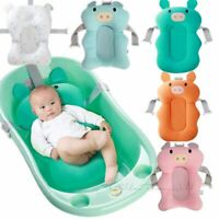 Baby Bathtub Mat Cartoon Portable Non-Slip Shower Newborn Safety Pillow Seat