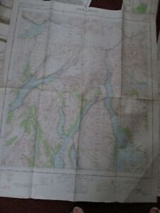 Loch Lomond Military map 1962 War office and Air Ministry vintage map No. 53