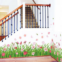 BE_ JW_ KF_ Flower Art Decals Wall Stickers Removable Home Decoration for Living