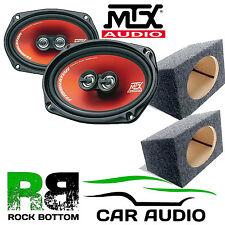 MTX TR694 300 Watts 3-Way Car Rear Shelf Speakers & 6 x 9 Box Enclosures