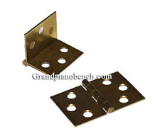 Piano Bench Hinges - Set of 2 - Replacement hinges brass plated
