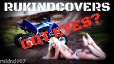 GREEN Eyes YAMAHA Raptor 700 450 350 HEADLIGHT COVERS RUKIND COVERS all years