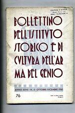 BOLLETTINO IST.STORICO E CULTURA ARMA DEL GENIO#Anno XXVII - N.4#Ott./Dic. 1961