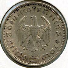 2 Silber Reichsmarkmünzen des Dritten Reichs (1936-1939)