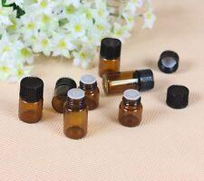 1 ml (1/4 Dram) Amber Glass Vial w/ Cap for essential oils, etc - 12 Pack