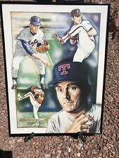 Nolan Ryan By W. Dormer (759/1000) Custom Framed