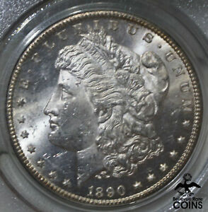 1890-CC USA $1 Morgan Dollar Silver Coin PCGS MS62 Certified CARSON CITY!