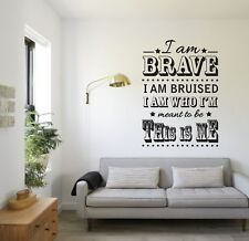 THE GREATEST SHOWMAN INSPIRED WALL ART THIS IS ME - VINYL TRANSFER WALL STICKER