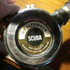New listing Vintage GOLD LABEL Healthways Double Hose Scuba Regulator BEST BREATHER!