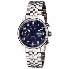 Revue Thommen Auto Chrono Blue Dial Stainless Steel Bracelet Watch 16051.6135