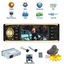 4inch Car Stereo Radio + Camera Audio Bluetooth Player 1 DIN USB FM AUX TF UPS