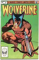 Wolverine 4 Marvel 1982 FN VF Frank Miller 1st Limited Series