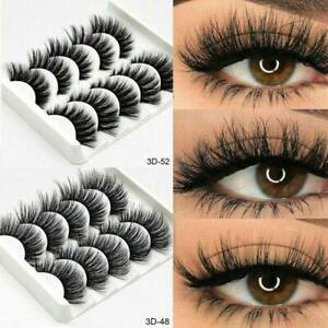 Eyelashes False Eyelashes Grafting Thick Soft Cross 5 Pairs 3D Girl Eye Decor