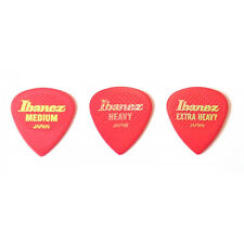 Ibanez rubber Grip Plectrums Medium in red x3