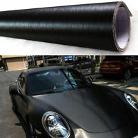 Black Brushed Car Wrap Vinyl Auto Car Wrap Body Sticker Air BubbleFree 60''x20''