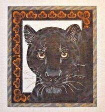 Liz / Susan Roberts Black Leopard Handpainted Needlepoint Canvas