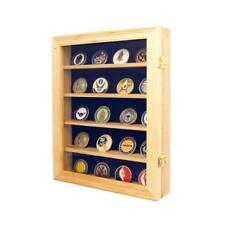 Lockable 30 Military Challenge Coin, Poker Chip, Sports Coin Display Case