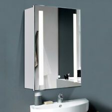 Illuminated LED Wall Bathroom Mirror Cabinet |VERTICAL|DEMISTER PAD| IP44 |TOUCH