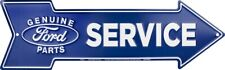 "Genuine Ford Parts Service Metal Arrow Sign 20"" x 6"" ↔ Home Garage Wall Decor"