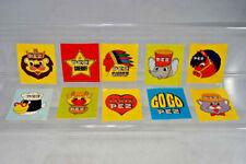vintage PEZ Candy Sticker Komplettsatz - 10 Stück - 1960er Jahre