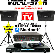Vocal-Star Home Party Karaoke Machine Speaker Set With Bluetooth & 300 Songs XDE