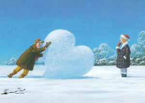 Postkarte: Gerhard Glück - Schneeherz / Winter