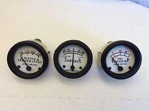 for John Deere A gauges, Oil, Amp, Water Temperature Gauge Set, Ships from USA