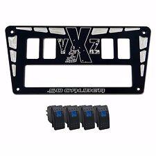 Yamaha YXZ1000R Custom rocker switch mounting plate Bezel USA Made Powder Coated